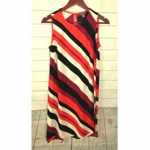 Vince Camuto Womens Sheath Striped Dress Sz XS